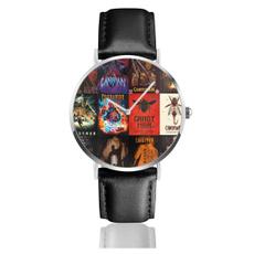 menwristwatch, Clock, leather, Watch