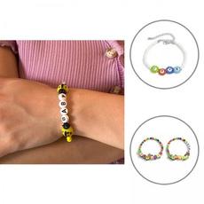 cute, Flowers, Chain bracelet, colorfulbracelet