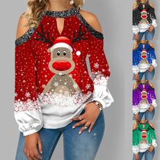 blouse, Plus Size, Tops & Blouses, christmasblouse