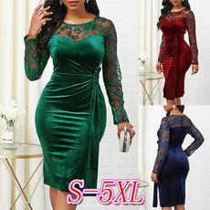 Plus Size, Lace Dress, solidcolordre, Lace