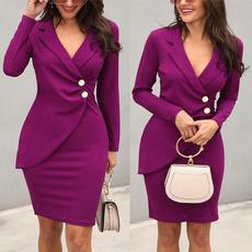 work dress, Plus Size, Blazer, Office