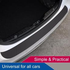 Fiber, rearguardplatesticker, Waterproof, trunkprotection