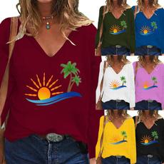 fashion women, Plus Size, Graphic T-Shirt, Sleeve