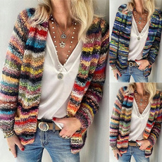 knitted, Plus Size, Winter, rainbow