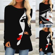 blouse, roundneckshirt, blouse women, long sleeve blouse