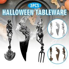 Steel, Forks, Decor, Skeleton