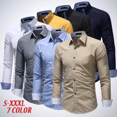 shirts for men, slim, Dress Shirt, long sleeved shirt