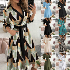 Turn-down Collar, Swing dress, Fashion Accessory, Plus Size