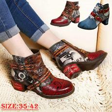 Shoes, Plus Size, thickheel, Ethnic Style