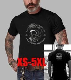 Fashion, motorbike, skull, Tops