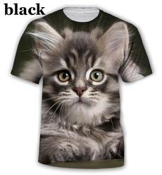 3dcatprinttshirt, Summer, Funny T Shirt, Sleeve