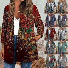 casual coat, Jacket, Plus Size, Ethnic Style