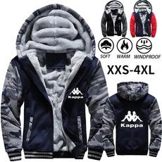Plus Size, Long Sleeve, camouflagecoat, cotton coat