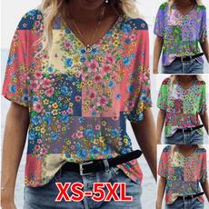 Tops & Tees, Tees & T-Shirts, V-neck, Women's Fashion