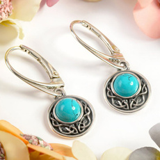 Sterling, Turquoise, 925 sterling silver, hookearring