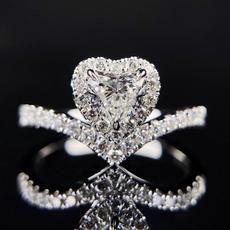 Sterling, Heart, Fashion, wedding ring