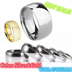 8MM, Fashion, polished, wedding ring