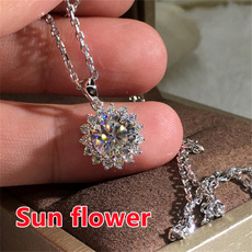 925 sterling silver necklace, Sterling, Diamond Necklace, Chain