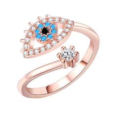 adjustablering, eye, Women Ring, gold