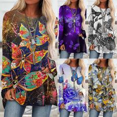 butterflyprint, butterfly, Plus Size, new women tops