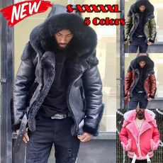 sheepskinjacket, motorcyclejacket, Plus Size, fur