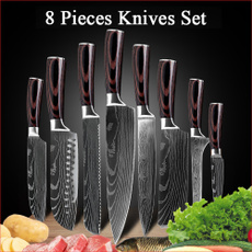 Steel, Kitchen & Dining, Meat, kitchenknifeset
