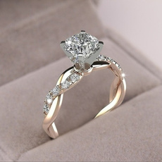 Sterling, elegantring, wedding ring, Anillo de diamantes