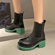 短靴, 筒靴英伦风, 春秋, 马丁靴女