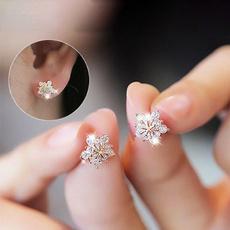 Sterling, DIAMOND, Stud Earring, pendientesmujer