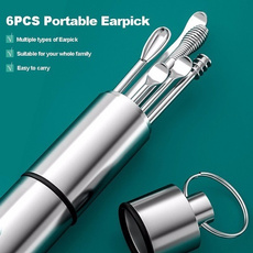 Steel, earpickcleaner, earspoon, Stainless Steel