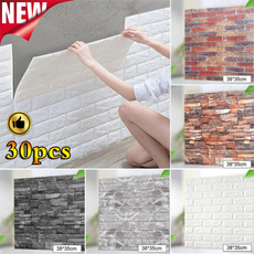decoration, 3dbrickpatternwallpaper, adesiviparete, Waterproof