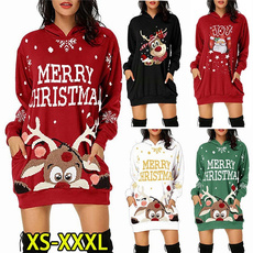 Plus Size, Hoodies, pullover sweater, Long Sleeve