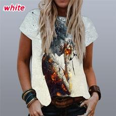 Round neck, Goth, Shorts, Graphic T-Shirt