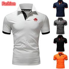 Fashion, solidcolortshirt, Polo T-Shirts, Casual