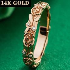 roseflowerring, goldringsforwomen, gold, Engagement Ring