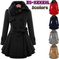 woolen, fur coat, Plus Size, fur