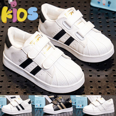 childrenssneaker, Escuela, leatheruppershoesforkid, kidswhiteshoe