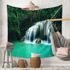 waterfalltapestry, foresttapestry, walltapestri, walltapestryfabric