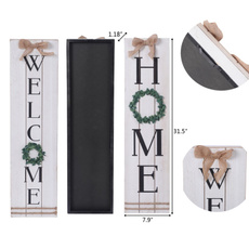 Home, Wood, Home Decor, welcome