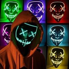 scary, glowingmask, lights, Cosplay