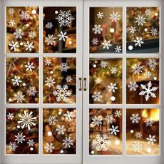 cute, Door, Christmas, Glass