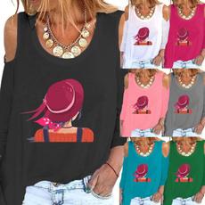 Fashion, Graphic T-Shirt, Women Blouse, Long Sleeve