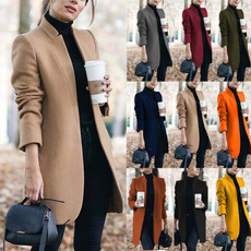 overcoatouterwear, woolen coat, Plus Size, Winter