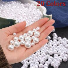 whiteimitationpearl, Jewelry, roundpearl, Earring