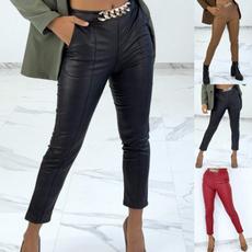 leathertrouserswomen, Fashion, Chain, pants