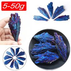 Blues, peacock, quartz, Crystal