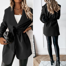 woolen, Casual Jackets, Plus Size, Blazer