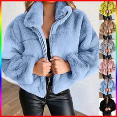 Plus Size, fur, Hoodies, zipperjacket