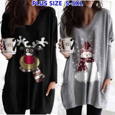 christmasclothing, Plus Size, Long Sleeve, Shirt