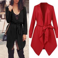 Plus Size, asymmetric, Loose, Women Jacket
